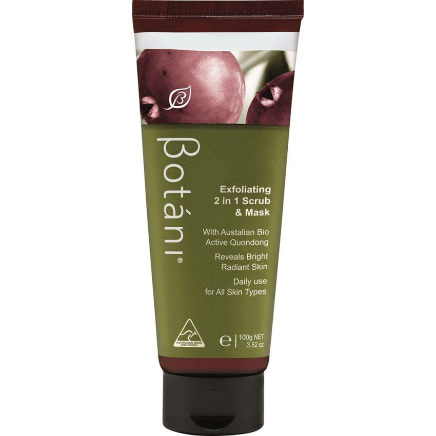 Botani Exfoliating 2 in 1 Scrub and Mask 100g - vegan beauty products