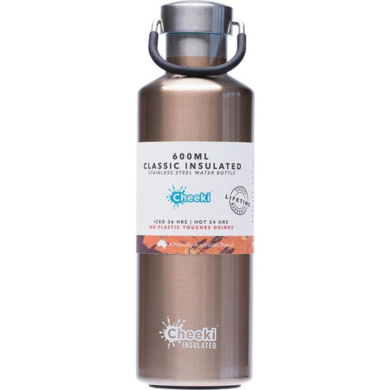 Cheeki Insulated Classic Stainless Steel Bottle 600ml - in various colours - The Vegan Town