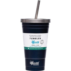 Cheeki Insulated Tumblers 500ml + Stainless Steel Straw - in various colours - The Vegan Town