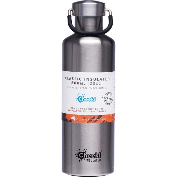 Cheeki Drink Bottle Silver 600ml
