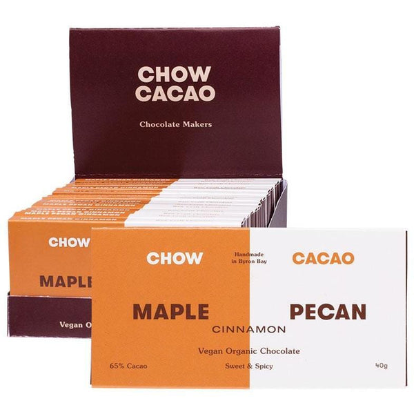 Chow Cacao Raw Organic Chocolate Bars 40g - The Vegan Town