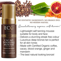 Eco Tan 125ml Cacao Tanning Mousse
