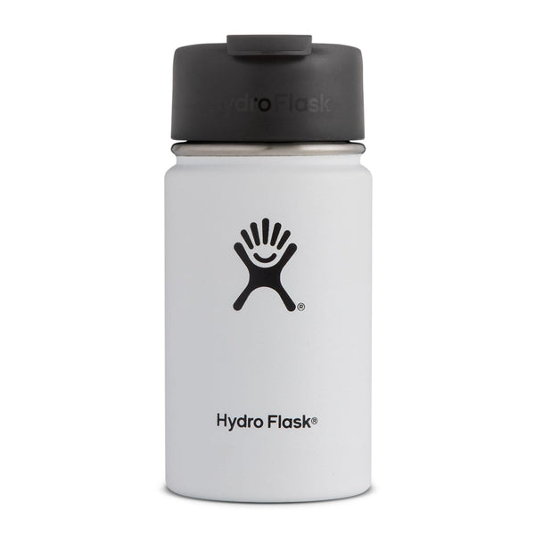 Hydro Flask Wide Mouth Coffee Flask - Flex Sip Double Insulated 354ml White | Eco Products Online | Online Vegan Store
