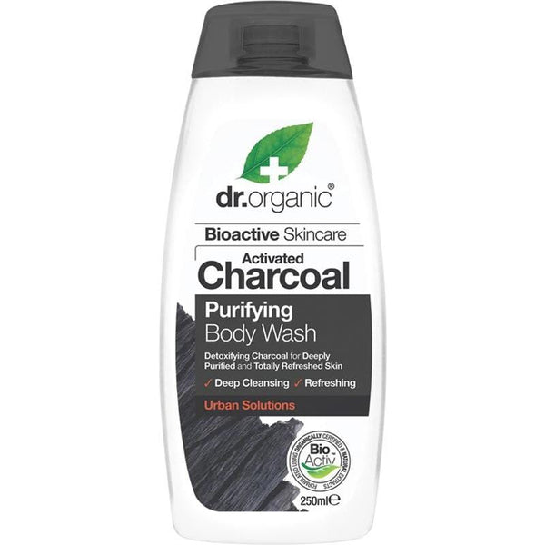 Dr Organic Activated Charcoal Body Wash 250ml - The Vegan Town