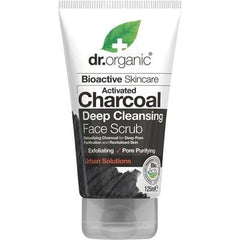 Dr Organic Activated Charcoal Face Scrub - The Vegan Town