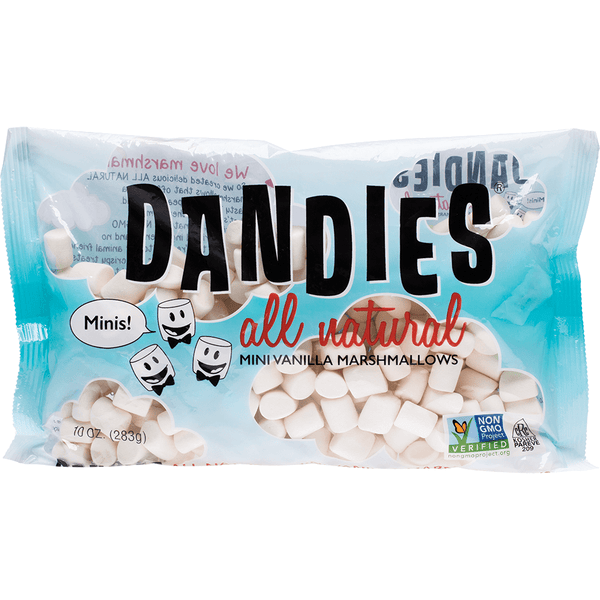 DANDIES Vegan Vanilla Marshmallows 283g Vegan Lollies | Mini Size