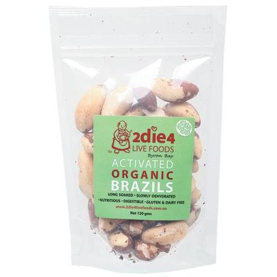 2Die4 Activated Organic Brazil Nuts - various sizes available - Vegan health food online