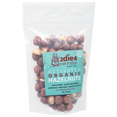 2Die4 Activated Organic Hazelnuts - various sizes available - The Vegan Town