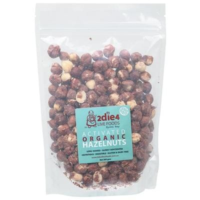 2Die4 Activated Organic Hazelnuts - various sizes available - Vegan health food online