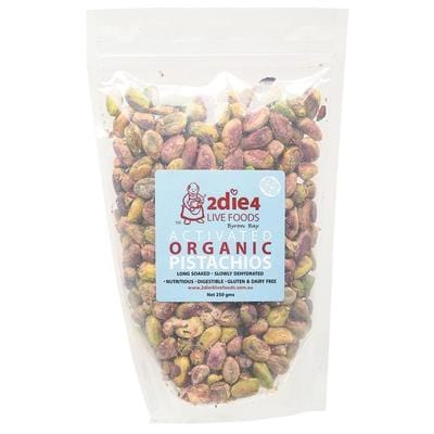 2Die4 Activated Organic Pistachios - various sizes available -  Vegan health food online