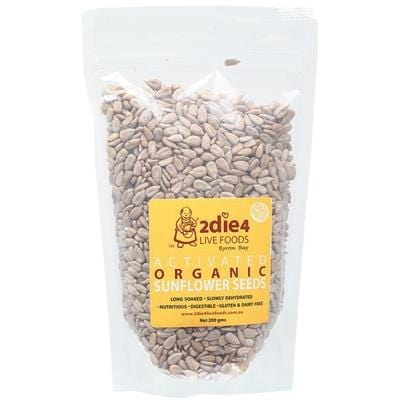2Die4 Activated Organic Sunflower Seeds - various sizes available -  Vegan health food online