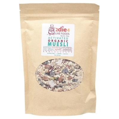 2Die4 Activated Organic Muesli - available in various sizes - Vegan health food online