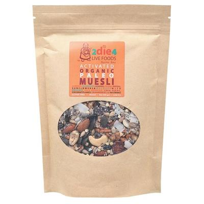 2Die4 Activated Organic Paleo Muesli - various sizes available - The Vegan Town
