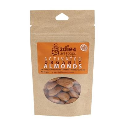 2Die4 Activated Organic Almonds - various sizes available - The Vegan Town