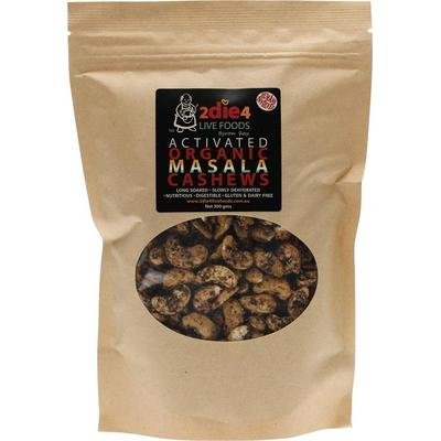 2Die4 Activated Organic Masala Cashews - various sizes available - Vegan health food online