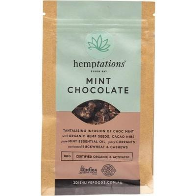 2Die4 Hemptations Mint Chocolate - various sizes available - The Vegan Town