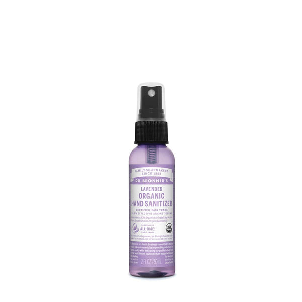 Dr. Bronner's Organic Hand Sanitizer Lavender 59ml - The Vegan Town