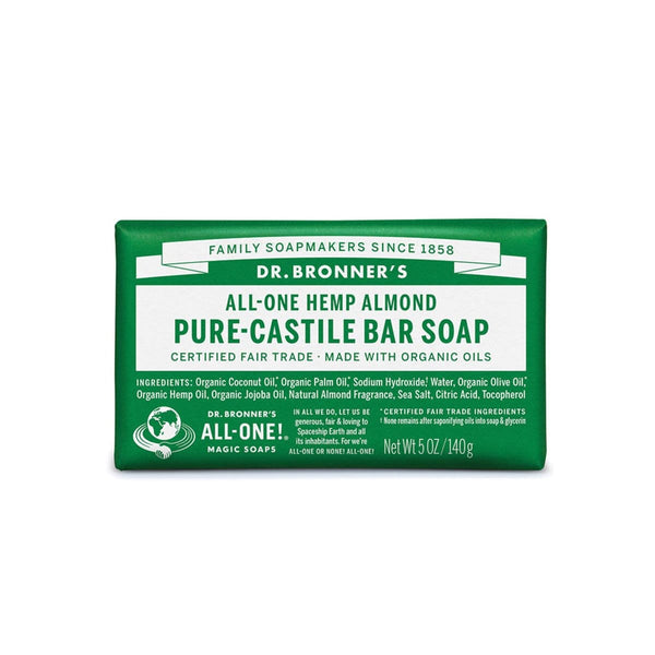Dr. Bronner's Pure-Castile Soap Bar (Hemp All-One) 140g - The Vegan Town
