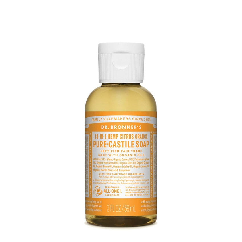 Dr. Bronner's Pure-Castile Liquid Soap (Hemp 18-in-1) Citrus - The Vegan Town