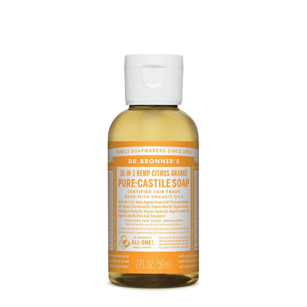 Dr. Bronner's Pure-Castile Liquid Soap (Hemp 18-in-1) Citrus 59ml