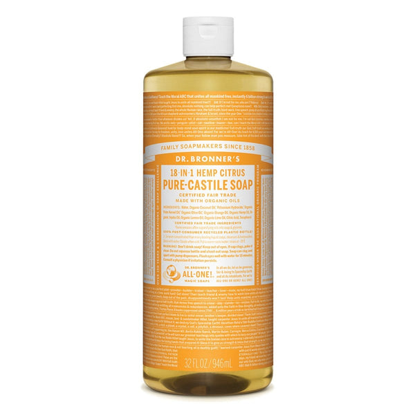 Dr. Bronner's Pure-Castile Liquid Soap (Hemp 18-in-1) Citrus 946ml