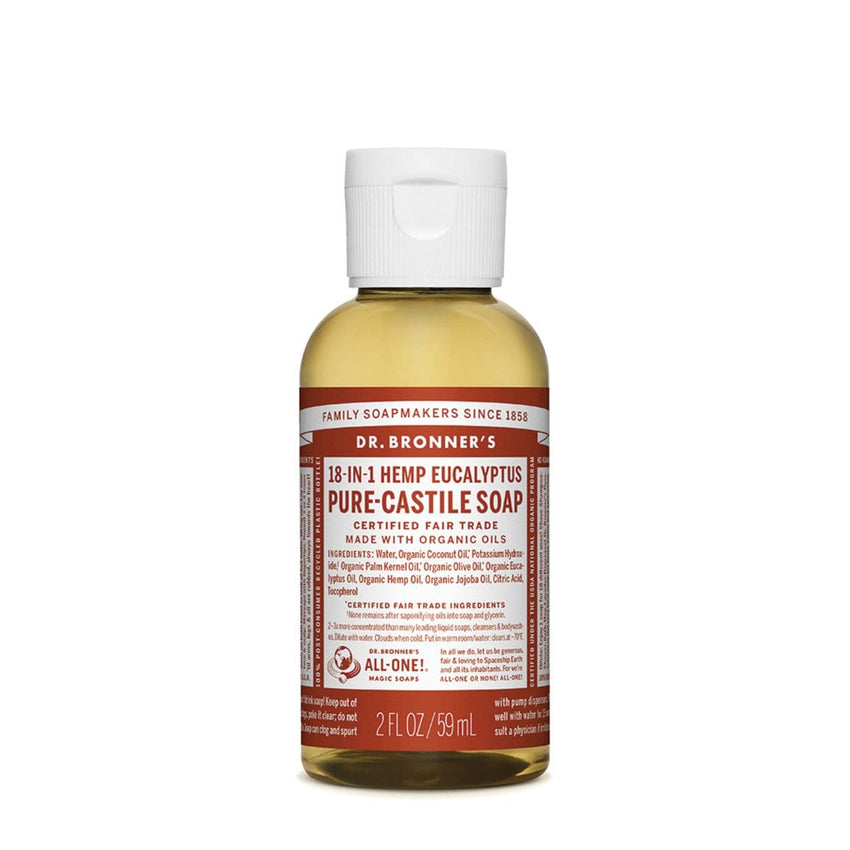 Dr. Bronner's Pure-Castile Liquid Soap (Hemp 18-in-1) Eucalyptus - The Vegan Town