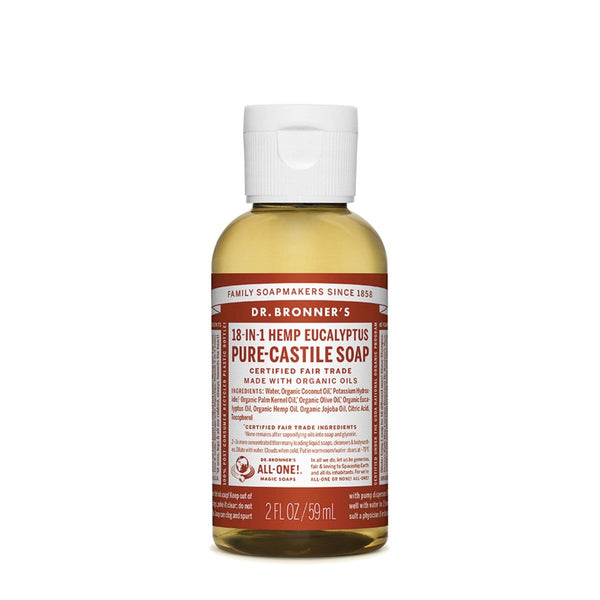Dr. Bronner's Pure-Castile Liquid Soap (Hemp 18-in-1) Eucalyptus 59ML