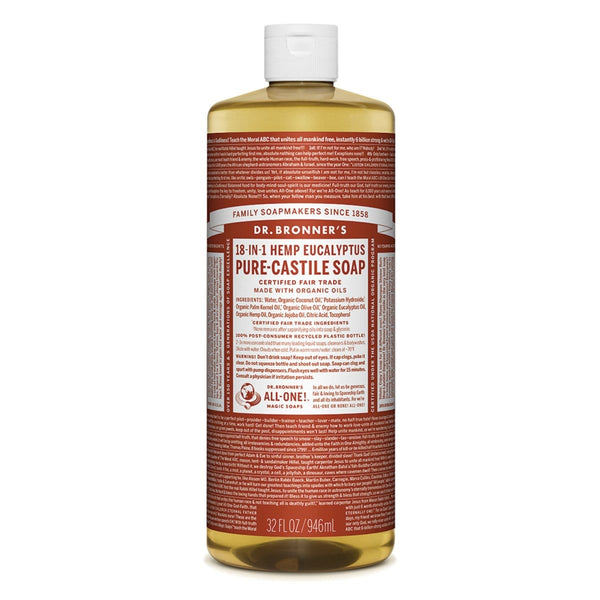 Dr. Bronner's Pure-Castile Liquid Soap (Hemp 18-in-1) Eucalyptus 946ml