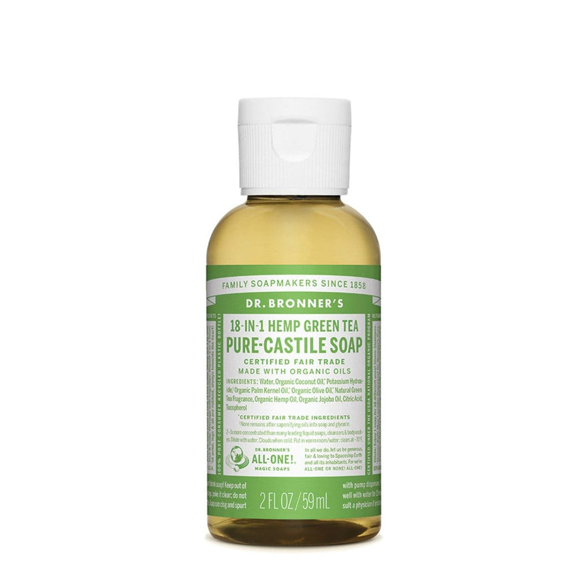 Dr. Bronner's Pure-Castile Liquid Soap (Hemp 18-in-1) Green Tea - The Vegan Town