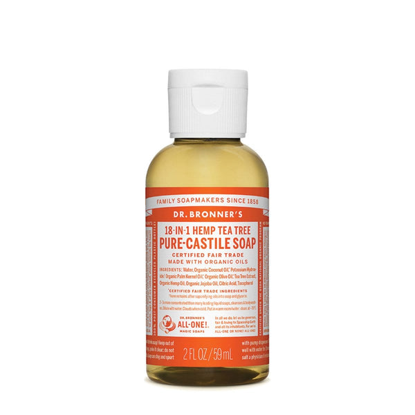 Dr. Bronner's Pure-Castile Liquid Soap (Hemp 18-in-1) Tea Tree 59ml