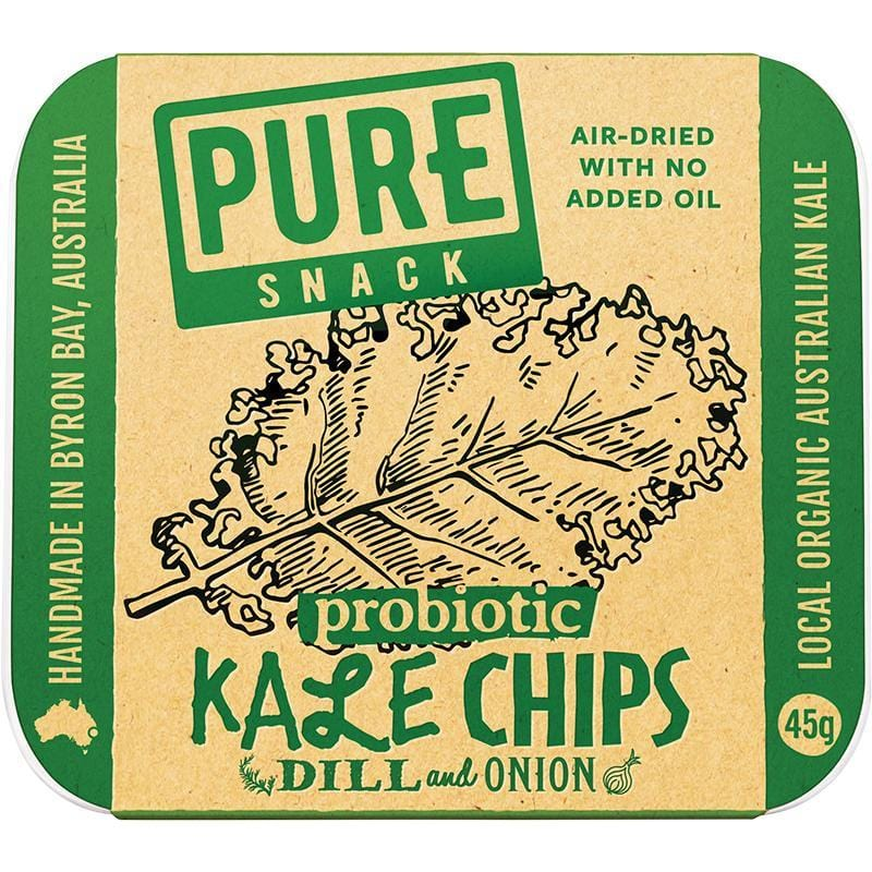 Extraordinary Foods Pure Kale Chips Dill And Onion 45g - The Vegan Town