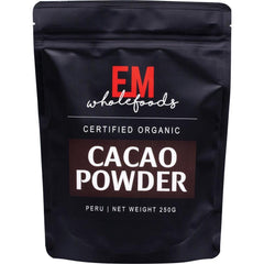EM Wholefoods 100% Certified Organic Raw Cacao Powder - in various sizes - The Vegan Town