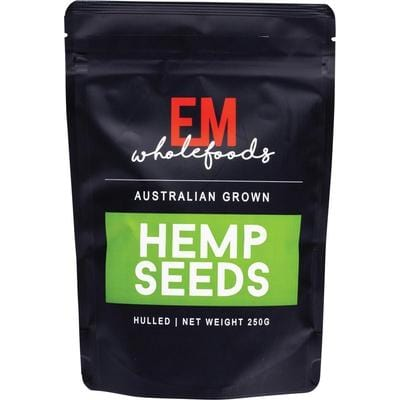 EM Wholefoods Australian Grown Hulled Hemp Seeds - in various sizes - The Vegan Town