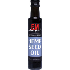 EM Wholefoods Hemp Oil 250ml Cold Pressed - The Vegan Town