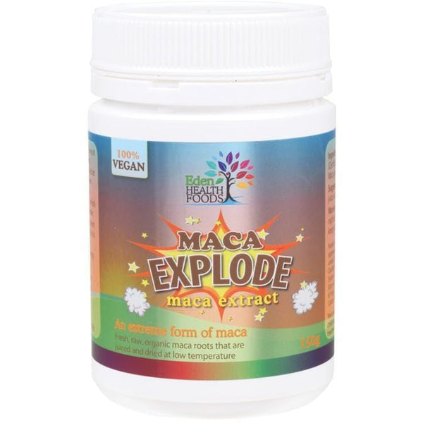 Eden Healthfoods Maca Explode Raw Maca Juice Powder 150g - The Vegan Town