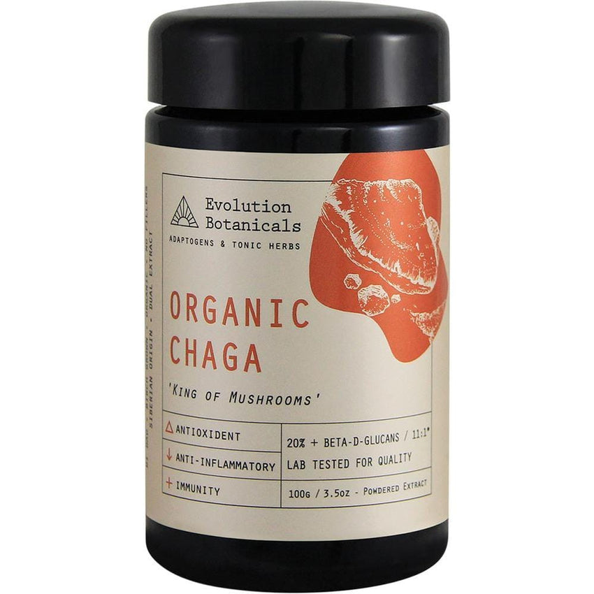 Evolution Botanicals Siberian Chaga Extract King Of Mushrooms - Organic 11:1 100g