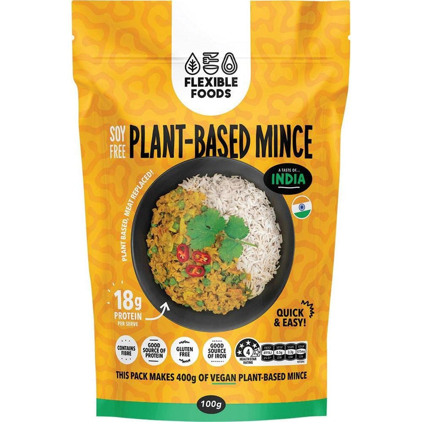 Flexible Foods Soy Free Plant Based Mince - A Taste of India