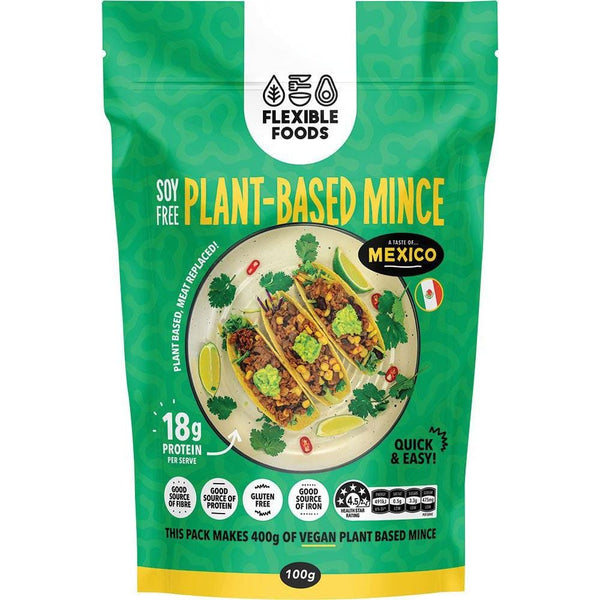 Flexible Foods Soy Free Plant-Based Mince A Taste Of Mexico 100g