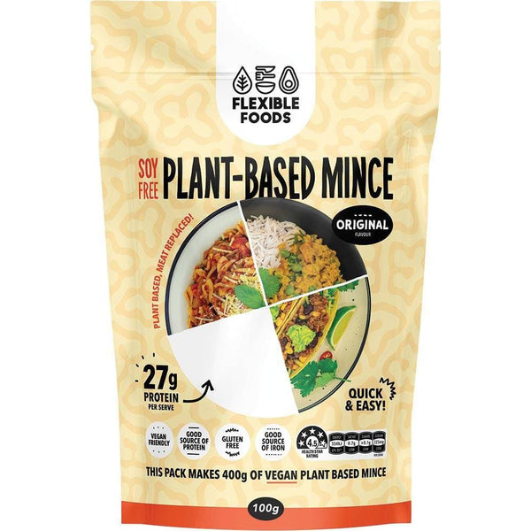 Flexible Foods Soy Free Plant-Based Mince Original (unflavoured) 100g