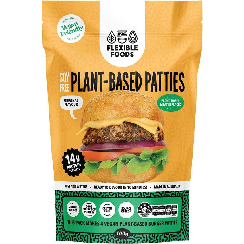Flexible foods Soy Free Plant-Based Patties Original 100g