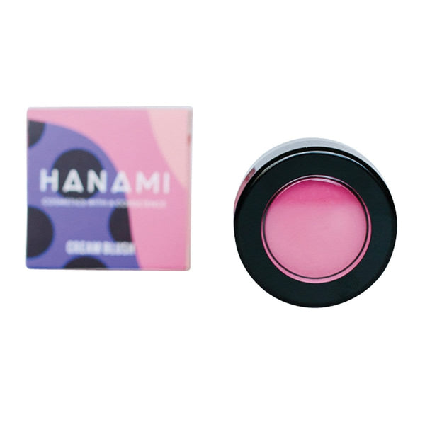 Hanami Cream Blush 5g All About Eve Brightest Pink in a single container with box | Vegan Makeup | Online Vegan Store