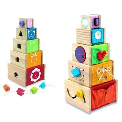 I'm Toy 5 Activity Stacker two angles | Eco Wooden Toys | Kids Educational Games - The Vegan Town