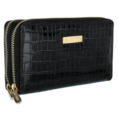 La Enviro Double Zipper Purse