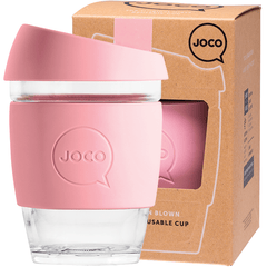 Joco Reusable Glass Cup 354ml Strawberry Pink Colour | Online Vegan Store | Eco Products