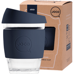 Joco Reusable Glass Cup 354ml Indigo Moon Colour | Online Vegan Store | Eco Products