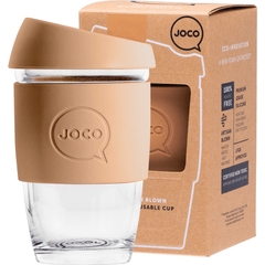 Joco Reusable Glass Cup Xsmall 177ml | Online Vegan Store | Butterum Colour Brown
