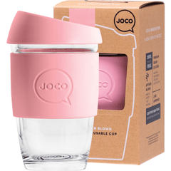 Joco Reusable Glass Cup Xsmall 177ml | Online Vegan Store | Strawberry Pink colour