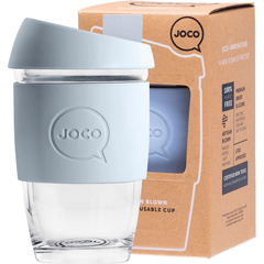 Joco Reusable Glass Cup Xsmall 177ml | Online Vegan Store | Vintage Blue Colour