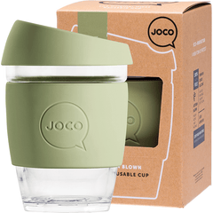 Joco Reusable Glass Cup 354ml Army Green Colour | Online Vegan Store | Eco Products