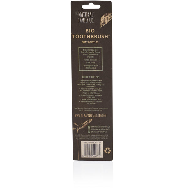 The Natural Family Co Bio Toothbrush Twin Pack - The Vegan Town